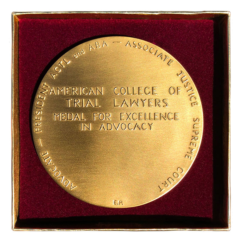 American College of Trial Lawyers, Medal of Excellence