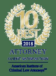 10 Best Attorney Client Satisfaction award 2018