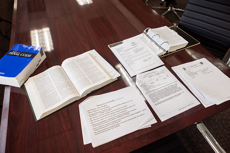 Types of Post-Conviction (image of court documents or of an attorney filing documents)
