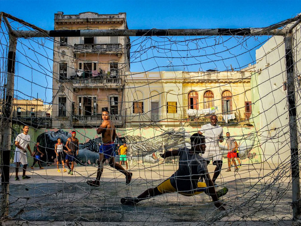 Soccer court in Old Havana — Spoly