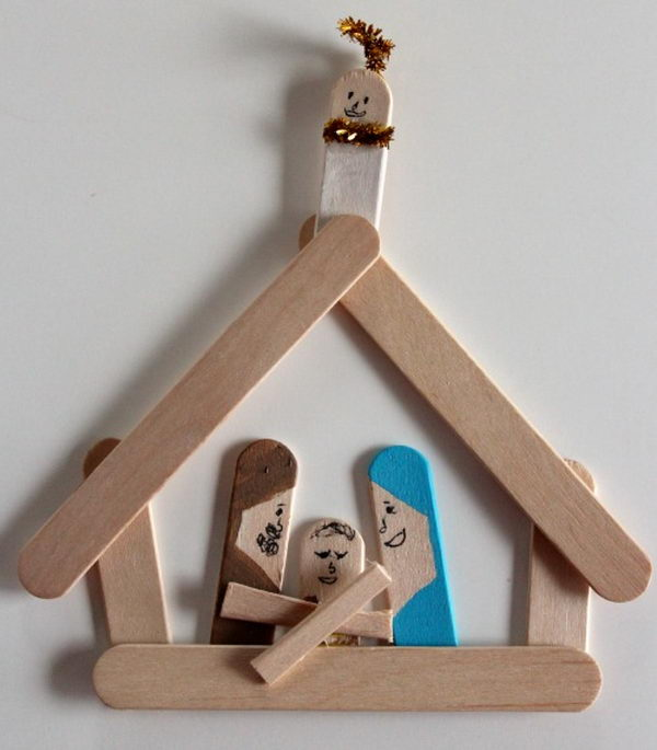 Wooden Patterns Large Outdoor Nativity