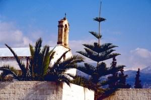 Kreta Kirchturm Schneegipfel (1)