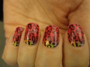 cheetah print nails design nail