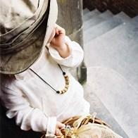 Spontane Fotografie meisje met mandje