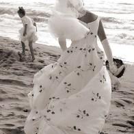 Spontane Fotografie wind op het strand