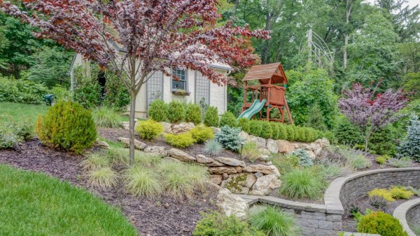 landscaping steeply sloped yard