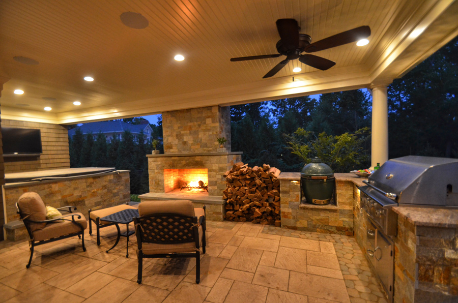 outdoor living rooms pictures room beams spaces sponzilli landscape group resort inspired short hills nj