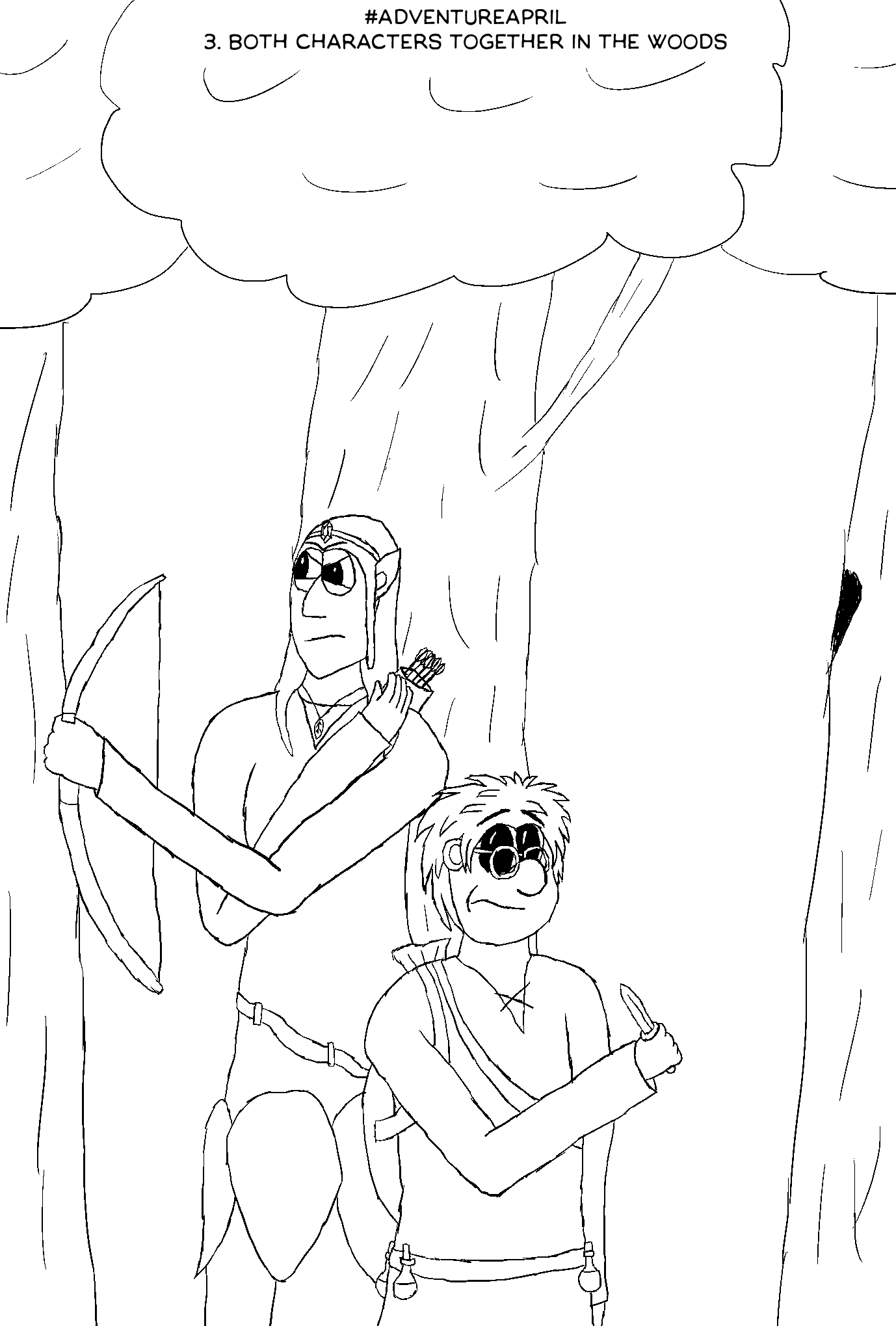 AA3: Both Characters Together in the Woods
