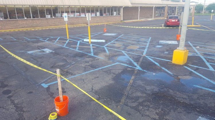 Handicapped Re-Striping Before