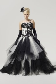 black-and-white-wedding-dresses