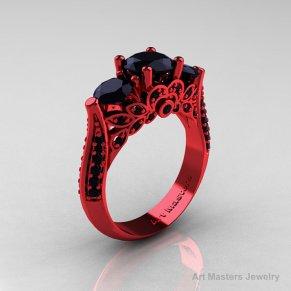 red gold black diamond