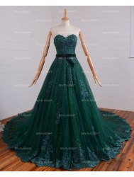 romantic-green-lace-gothic-wedding-dress