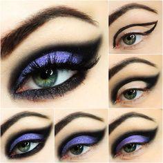 purple eye winged