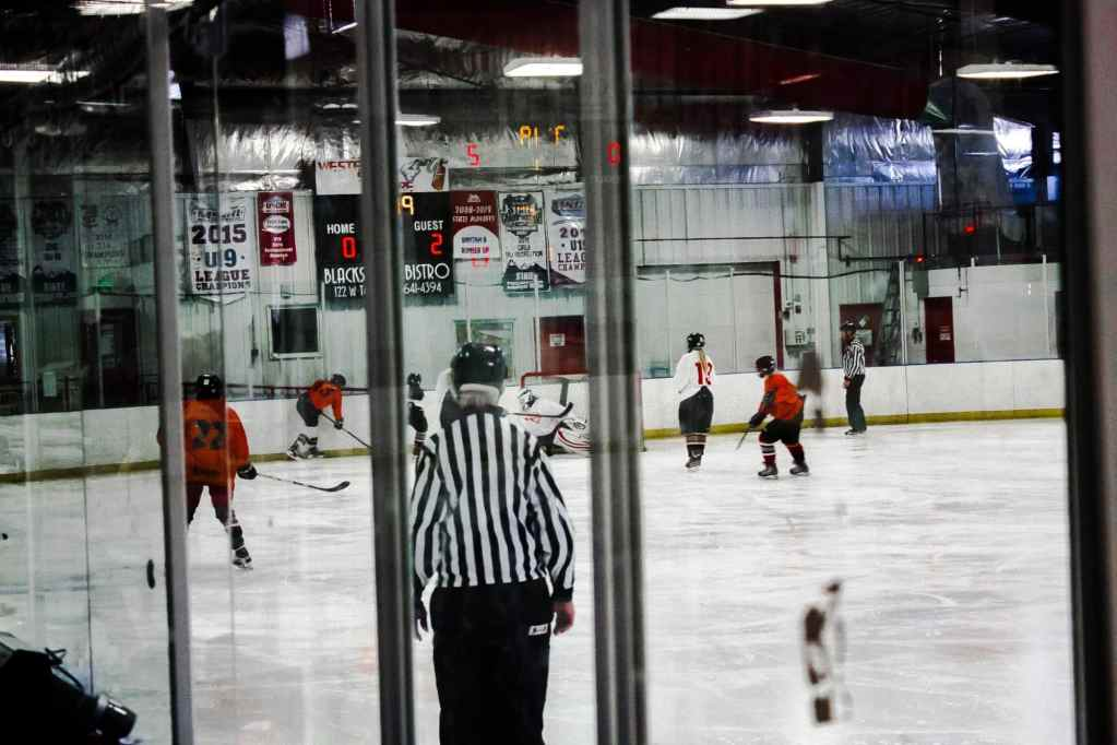 Photo of a hockey game