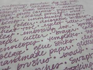 Craft Text Stamp from QKR Stampede