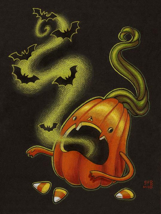 The delightful Halloween art of Grelin Machin