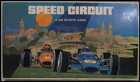 About 1971 Speed Circuit Grand Prix Racing 3m Board Game Complete