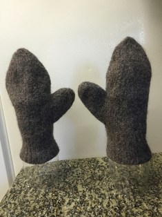 Drying mittens after shrinking