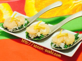 Scallops with Cucumber and Ginger SpoonSushi!6
