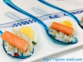 Canned Tuna with Crab Sticks, Boiled Eggs and Mayo SpoonSushi!4