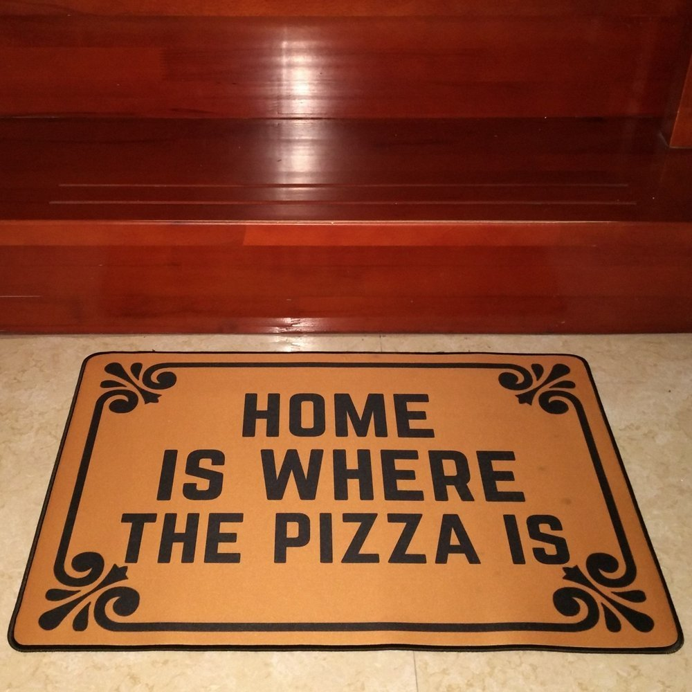 Funny Pizza Doormat
