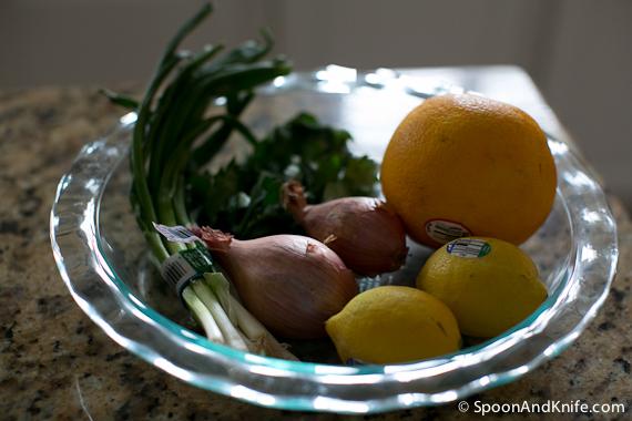 Flounder Ceviche - Prep Items