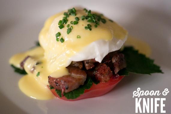 Gluten Free Benny BLT (Bacon, Lettuce, Tomato, Eggs Benedict Style)