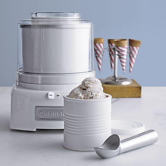 Frozen Yogurt Cuisinart Ice Cream Sorbet Maker White