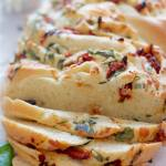pane bianco with tomatoes, basil, garlic and cheese | SpoonfulOfButter.com
