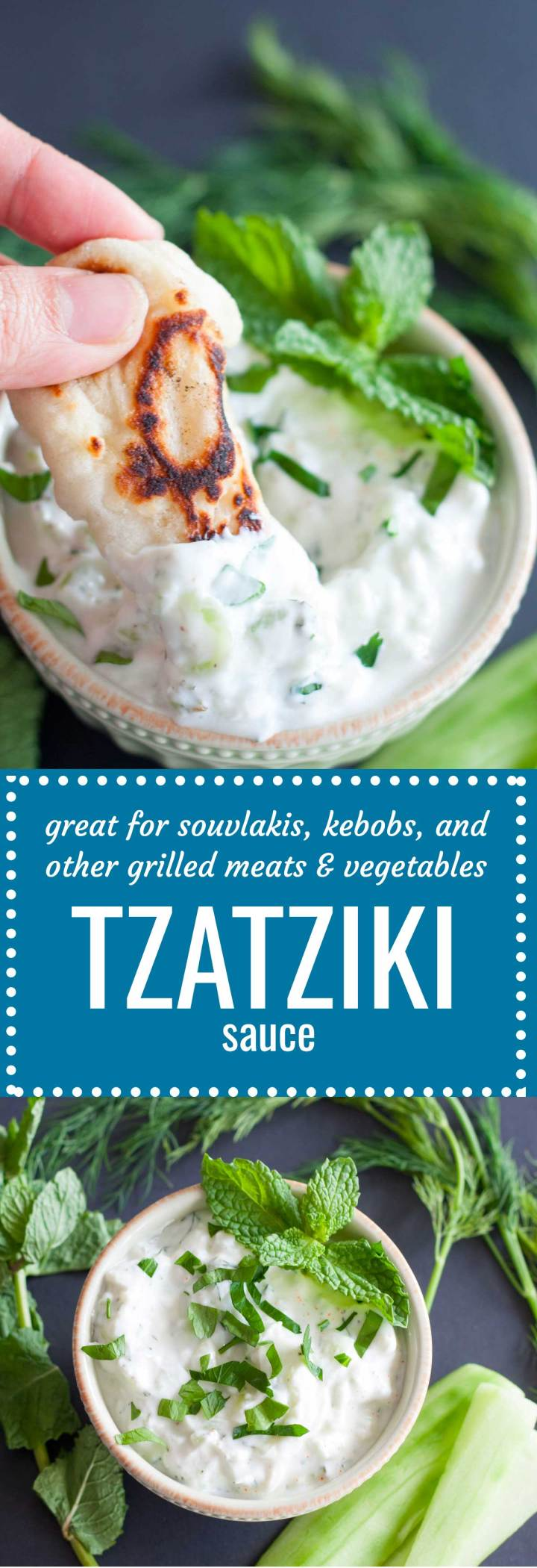 This is a good tzatziki recipe! Refreshing cucumber, creamy Greek yogurt, and zingy lemon make it the perfect condiment for just about everything.