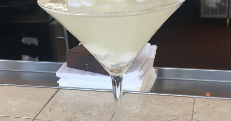Smoking Lemon Drop Martini at Salt Rock Grill, Indian Shores, FL