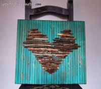 DIY Stick Heart Wall Art