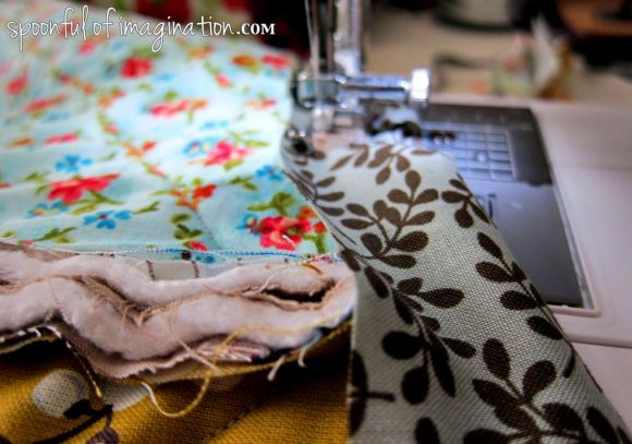 sew edge on quilt