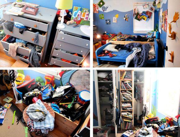 boys messy room