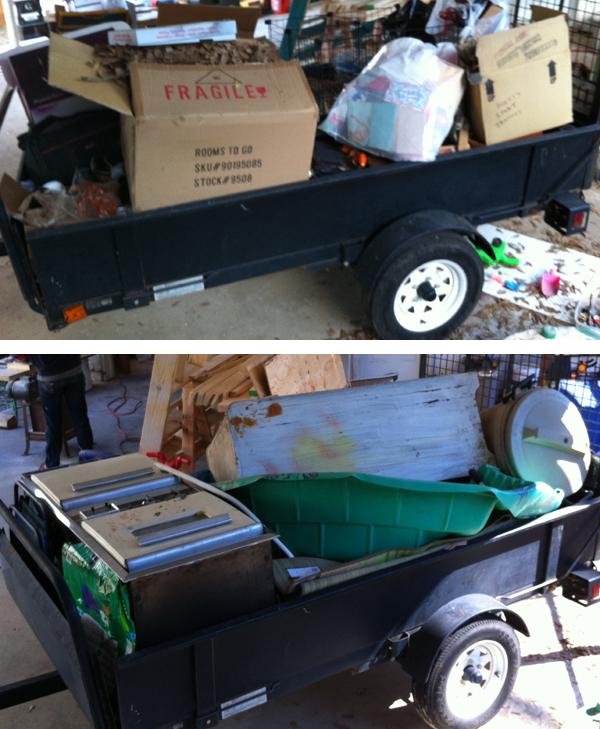 trailer full of junk