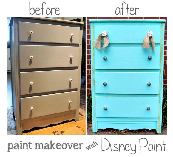 before and after pictures of painted dresser