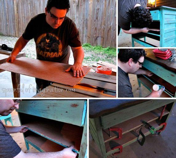 making a dresser shelf