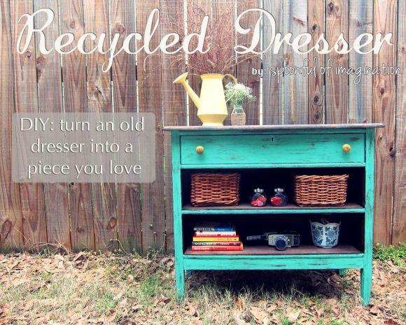 vintage recycled dresser
