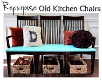 Repurpose Old Kitchen Chairs - Spoonful of Imagination