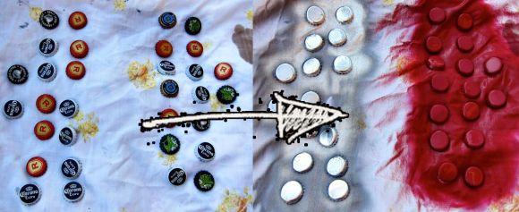 DIY Checker game pieces