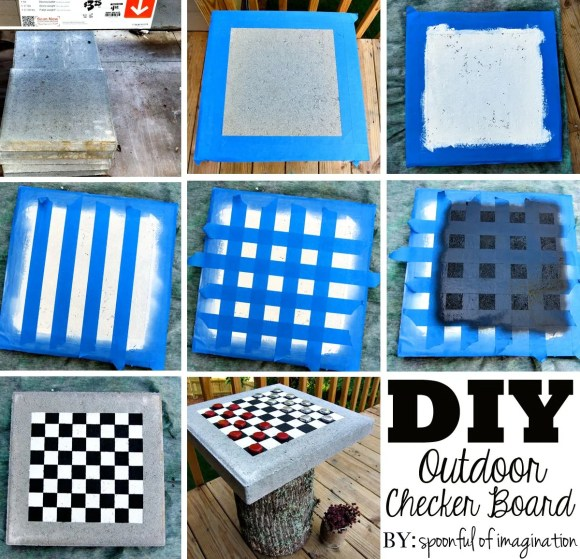 how to make an outdoor checkerboard