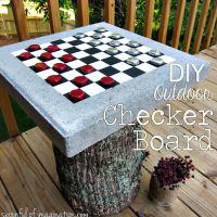 DIY Outdoor Checker Board