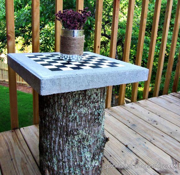 yard checker board