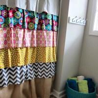 DIY Ruffled Shower Curtain