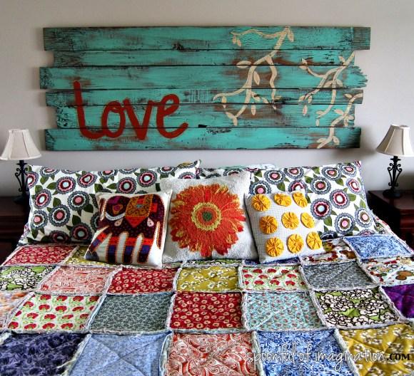 king size rag quilt