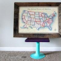 DIY Pallet Frame {Poster Size}