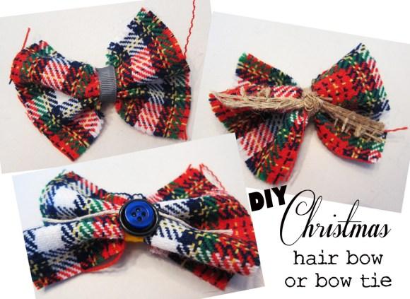 DIY_Christmas_hair or bow tie
