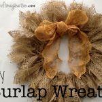 Diy Easy Burlap Wreath Spoonful Of Imagination