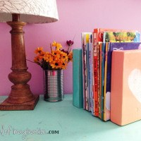 DIY Bookends (what you can make for being a hoarder)