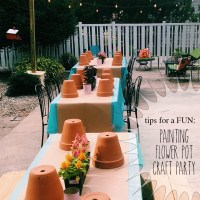 Painting Flower Pot Party Tips
